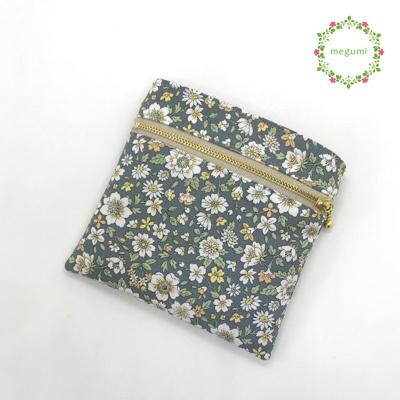 大人かわいい花柄の移動ポケット