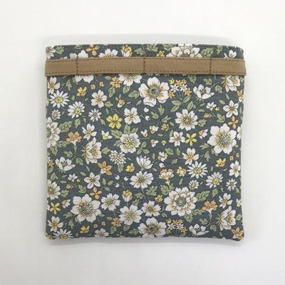 【ファスナー付き】大人かわいい 花柄移動ポケット