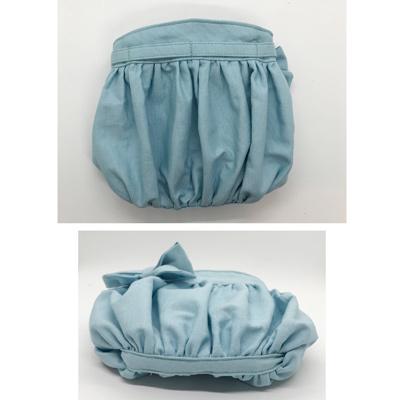 ふんわりギャザーの移動ポケット(水色・ふたなし)