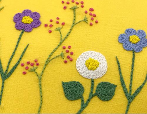 お花の刺繍
