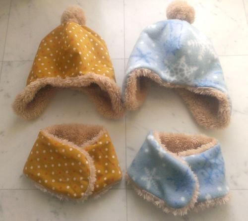 ハンドメイド 帽子 マフラー