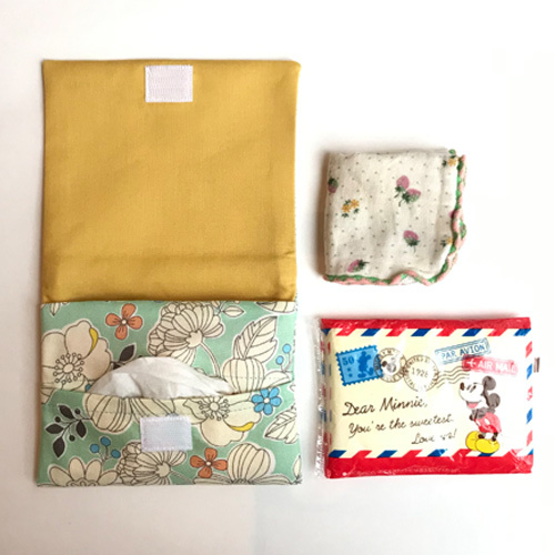 移動ポケットの作り方【ティッシュケース付き】 表布と裏布切り替えタイプ