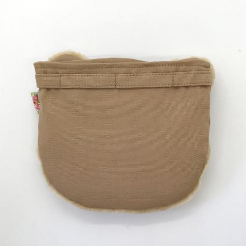 【コットン】くまのふわふわ移動ポケット